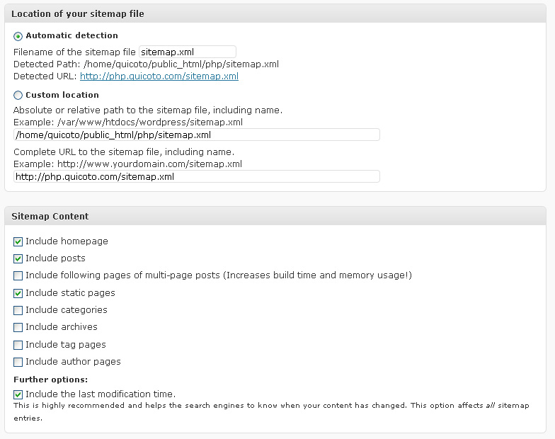 how to create sitemap in wordpress