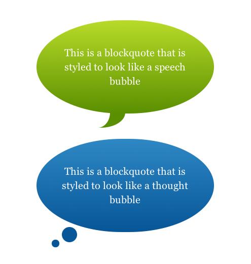 Oval Speech Bubble Css