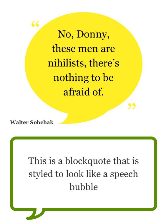 CSS3 Speech Bubbles