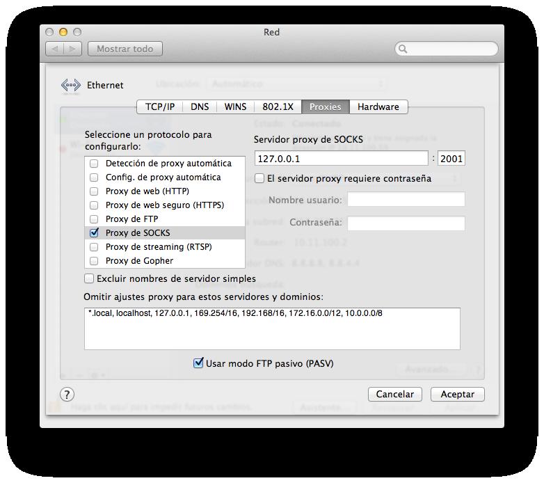 mac proxy socks