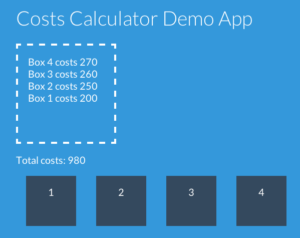 Costs App Calculator