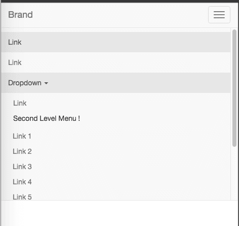 Bootstrap 3 Second Level Menu Nav - Rick's code